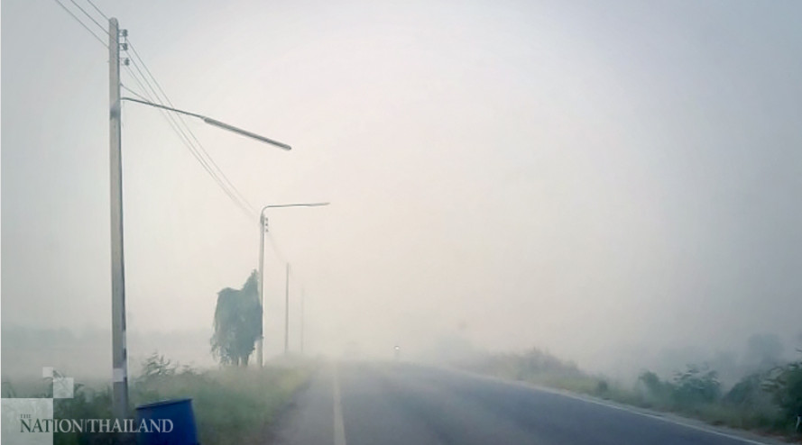 White-knuckle drivers brave smoggy northern road